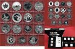Fabulous 15 Serie mit Box 15 Silbermünzen Set Fabulous 15 Set 2012 mit Holzbox und Zertifikaten