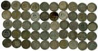 Deutsches Reich# 50 x 1 Mark Lot von 1 Mark Kursmünzen aus dem 19-20. Jahrhundert