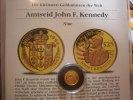 Niue 25 Dollars Kenedy 1/25 Unze Gold. Die kleinsten Goldmünzen der Welt