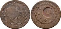 Brasilien Cu-20 Reis Peter II., 1831-1889