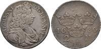 Schweden 2 Mark Karl XI., 1660-1697, 1693 Herzog von Pfalz-Zweibrücken