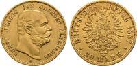 SACHSEN-ALTENBURG, HERZOGTUM 20 Mark GOLD