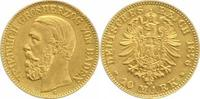Baden 10 Mark Gold Friedrich I. 1856-1907.