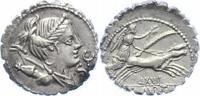 Republik Denar (Serratus) Tib. Claudius Nero 79 v. Chr..