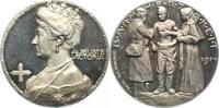 Schleswig-Holstein-Sonderburg-Augustenburg Silbermedaille Auguste Viktoria, Gemahlin Wilhelm II. *1858, +1921.