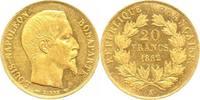 Frankreich 20 Francs Gold Zweite Republik 1848-1852.
