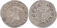Indien - Portugiesisch-Indien Meio (1/2) Pardao Maria II. 1826 - 1828/1834 - 1853.