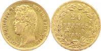 Frankreich 20 Francs Gold Louis Philippe 1830-1848.