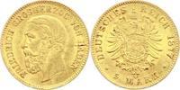 Baden 5 Mark Gold Friedrich I. 1856-1907.