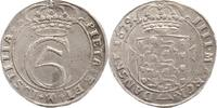 Schleswig-Holstein, Königliche Linie Krone zu 4 Mark Christian V. 1670-1699.