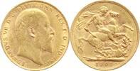 Großbritannien Sovereign Gold Edward VII. 1901-1910.
