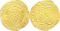 Frankreich Ecu d'or a la couronne Gold Karl VI. 1380-1422.