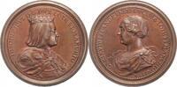 Frankreich-Lothringen Bronzemedaille Die lothringische Herzogs-Suite 1730-1750.