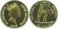Cook Islands 20 Dollars Gold Elisabeth II. seit 1952.