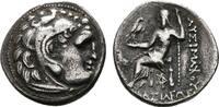 THRACIA AR-Drachme KÖNIGREICH. Lysimachos, 323-281 v. Chr.
