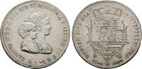 ITALIEN 1 1/2 Francescone (Dena) Carlo Ludovico di Borbone, König von Toscana, und seine Mutter Maria Luigia, 180