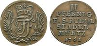 Schwarzburg-Rudolstadt Cu 2 Pfennig Johann Friedrich 1744-1767