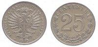 Italien-Königreich 25 Centesimi Vittorio Emanuele III. 1900-1946.