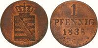 Sachsen-Albertinische Linie Cu Pfennig Friedrich August II. 1836-1854.