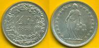Schweiz-Eidgenossenschaft 1/2 Franken RAR