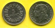 Frankreich 5 Francs Nickel