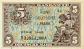 Deutschland 5 Deutsche Mark DM Bank Deutscher Länder