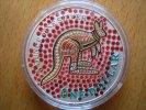Australien 1 Dollar Australien Kangaroo 2001 1 Dollar Silber 1 Unze Colored,very rare